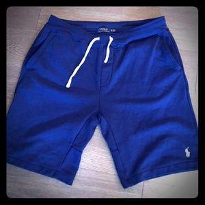 Blue Polo Ralph Lauren Mens Fleece Shorts size xl